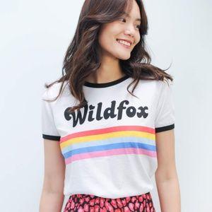 NWT Wildfox striped rainbow T-shirt